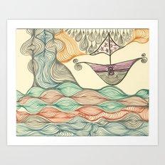 Hundertwasser's last voyage Art Print