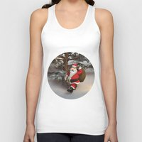 santa Tank Tops featuring Santa by Design Windmill