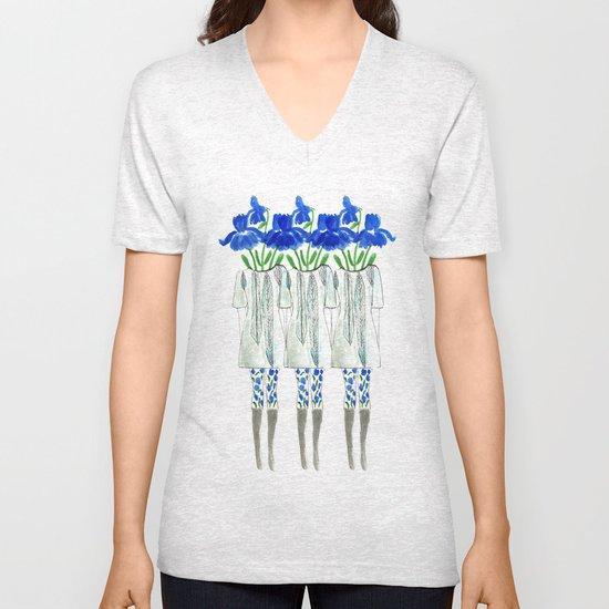 Iris Illustration Unisex V-Neck