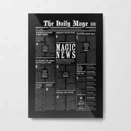 The Daily Mage Fantasy Newspaper II Metal Print
