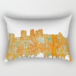Birmingham, Alabama Skyline - Rust Rectangular Pillow
