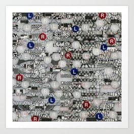 Do The Hokey Pokey (P/D3 Glitch Collage Studies) Art Print