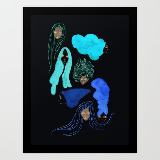 Hair 3 of 3 Art Print