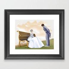 Demande en mariage Framed Art Print