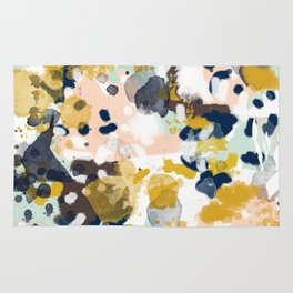 Sloane - abstract painting gender neutral baby nursery dorm college decor Rug