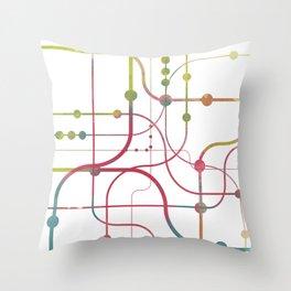 Line x Line-BubblegumPop-B Throw Pillow