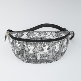 me beauties black white Fanny Pack
