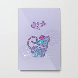 Chinese Zodiac Rat Metal Print