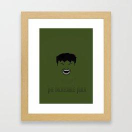 The Hulk Framed Art Print