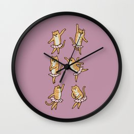 Ballet Cat Wall Clock