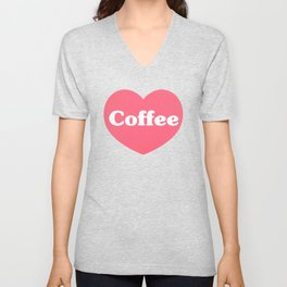 I Love Coffee Unisex V-Neck