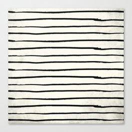 Horizontal Ivory Stripes II Canvas Print