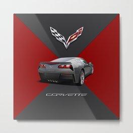 C7 Vette Sports Car Metal Print
