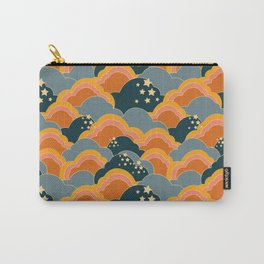Retro 70s Inspired Boho Clouds Carry-All Pouch