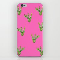 craftberrybush iPhone & iPod Skins featuring Cactus watercolor  by craftberrybush