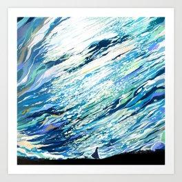 Silent Blue Art Print