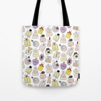 perfume Tote Bags featuring Perfume by thedreamingclouds