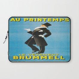 Vintage poster - Au Printemps Laptop Sleeve