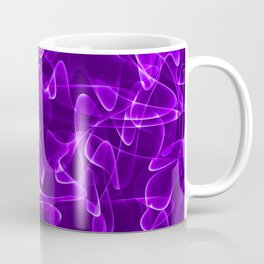 Purple marble and cosmic luminous lines in iridescent style. Coffee Mug