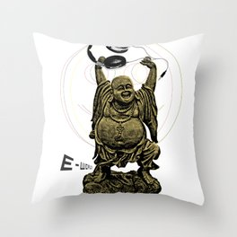 E-World! (The Peace of Buddha) Throw Pillow