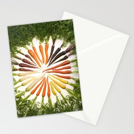 Carrot Color Wheel Stationery Cards