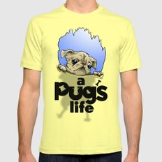a Pug's life Mens Fitted Tee SMALL Lemon