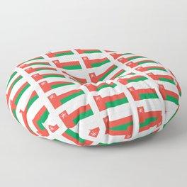 flag of oman ,عمان ,omani,Suwayq,muscat,dishdaska. Floor Pillow
