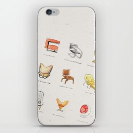 Post Modern Watercolor Chairs iPhone Skin