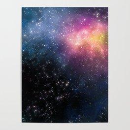 Stars and Nebulas Poster