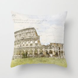 Colosseum, Rome Italy Throw Pillow