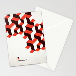 Modenist Negative Space Stationery Cards