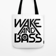 Wake And Bass (Black) Tote Bag