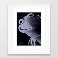 kermit Framed Art Prints featuring KERMIT by John McGlynn