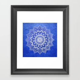 okshirahm, blue crystal Framed Art Print
