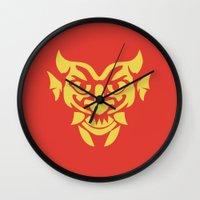 bioshock infinite Wall Clocks featuring Bioshock Infinite Vigors - Devil's Kiss by GunnerGrump