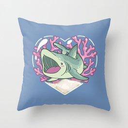 GULP, the Basking Shark Throw Pillow