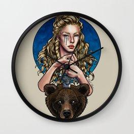 Goldilocks, Viking Bear Hunter Wall Clock