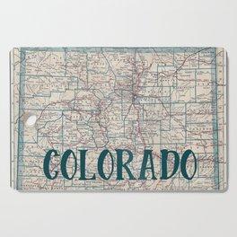 Colorado Map Cutting Board