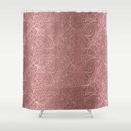 Rose Gold Floral Garden Shower Curtain
