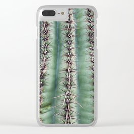 Cactus Abstractus Clear iPhone Case