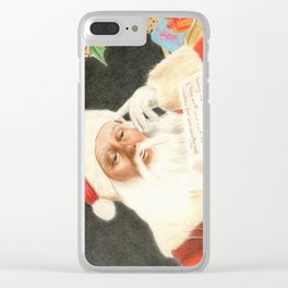 Letter to Santa Claus Clear iPhone Case