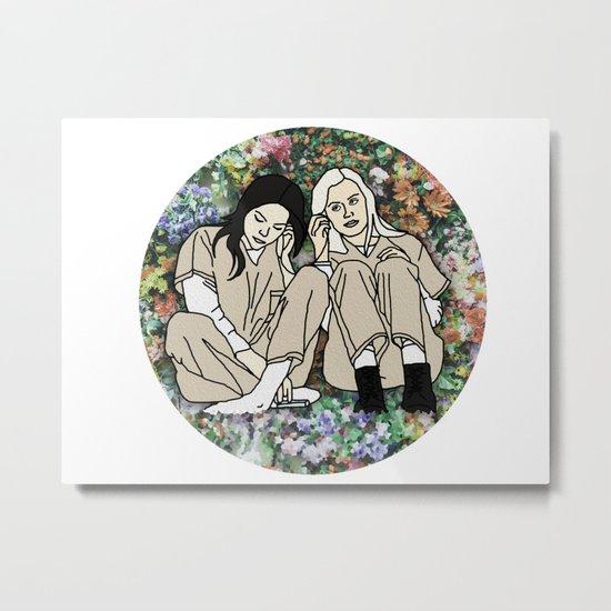 OITNB Floral Metal Print