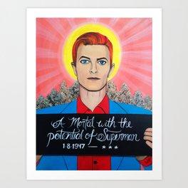 Saint Bowie Art Print