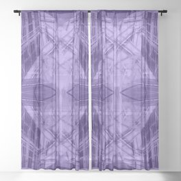 Violet pattern Sheer Curtain
