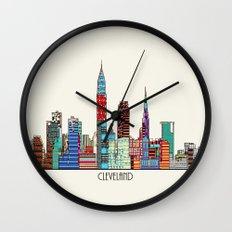Cleveland city  Wall Clock