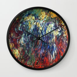 "Claude Monet ""Weeping Willow, Giverny"", 1922 Wall Clock"
