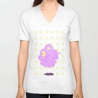 lumpy space princess V-neck T-shirts featuring Adventure Time - Lumpy Space Princess by LightningJinx