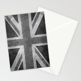 Union Jack Vintage 3:5 Version in grayscale Stationery Cards