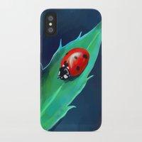 ladybug iPhone & iPod Cases featuring Ladybug by Freeminds