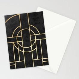 Art Deco Black Marble Stationery Cards